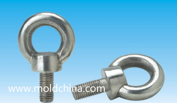 Hoist ring or lifting eyebolt of plastic injection mold